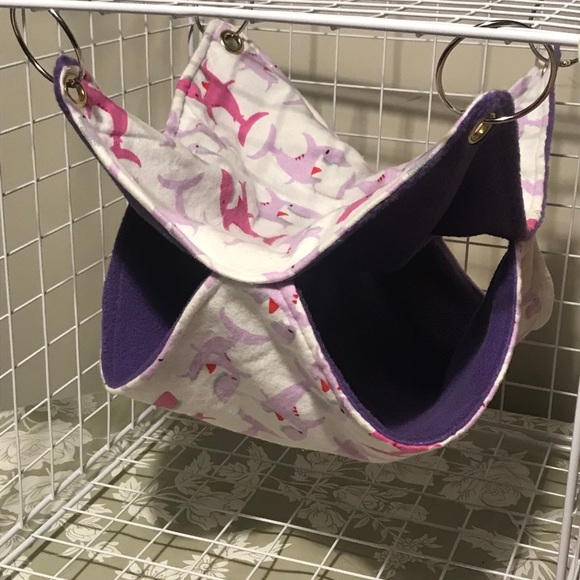 Rat/Ferret Double Hammock Handmade Happy Sharks
